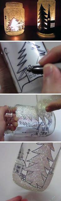 Bellart Atelier: Natal - Luminárias com vidro reciclado.