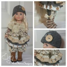 Spring / Winter  outfit clothes for 18 inch doll american girl doll handmade by AvaDeenaDesigns on Etsy