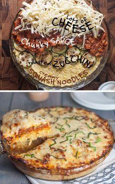 Low Carb - Spaghetti Squash Pie | 24 Low-Carb Spaghetti Squash Recipes That Are Actually Delicious