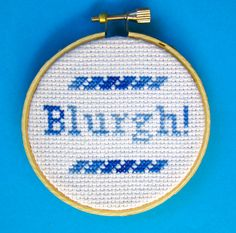 Blurgh  30 Rock Cross Stitch Quote by BananyaStand on Etsy, $12.00