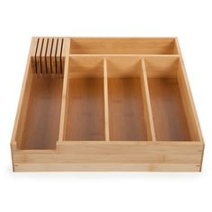 Cutlery Tray with Knife Slots, $18.50, now featured on Fab. This is a steal.