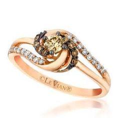 Le Vian Vanilla/Chocolate Diamond Ring Rose Gold