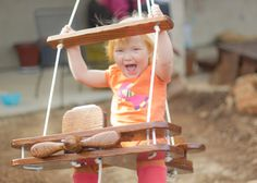 Kid's Outdoor Airplane Swing by billdillon2 on Etsy, $149.00