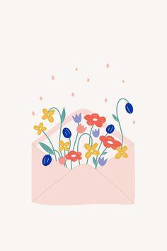 phone wall paper spring Petal post desktop, tablet and phone wallpaper Make and Tell Spring Desktop Wallpaper, Flower Wallpaper, Iphone Wallpaper, Wallpaper Doodle, Unique Wallpaper, Dark Wallpaper, Wallpaper Ideas, Floral Illustrations, Cute Illustration