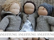 NATURKINDER Puppenpullover/Jacke in drei Varianten