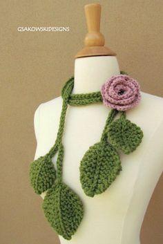 crochet scarf  Rose