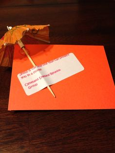 Jesus can help you weather any storm...small paper umbrella.