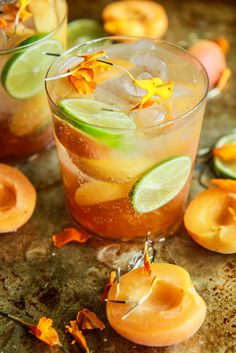 some fresh apricot slices and tart lime wedges will totally transform this with just a little sweet and sour- cheers!