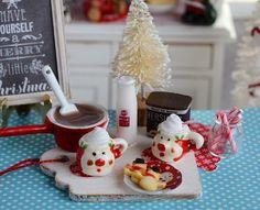 Making Miniature Christmas Hot Chocolate Set by CuteinMiniature
