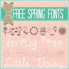 Free Fonts ~ Spring Edition | The 36th AVENUE