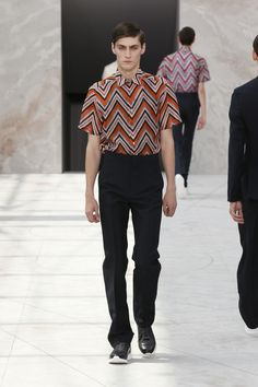 Look 35 from the Louis Vuitton Men's Spring/Summer 2015 Fashion Show.