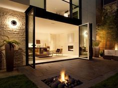 This is what I always wanted: A large sliding glass door that opens the inside to the outside