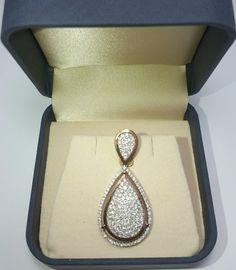 Liontin emas 💎 berlian Mode Pear Balut RG. (Harga Cuci Gudang)  Toko Perhiasan Emas Berlian-MJ,Jakarta +628118455779/DC9E309C Cp.Tri. #emas #berlian #investasi #fashion