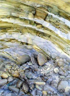 Watercolor by Rukiye Garip Watercolor Water, Watercolor Artists, Watercolor Techniques, Watercolor Landscape, Watercolour Painting, Landscape Art, Landscape Paintings, Watercolors, Johannes Itten
