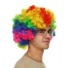 We just received another shipment of Multi-Coloured Curly party  wig! These always sell out fast.