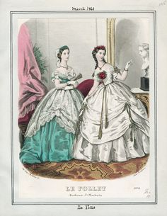 Casey Fashion Plates Detail | Los Angeles Public Library Le Follet Date: Friday, March 1, 1861