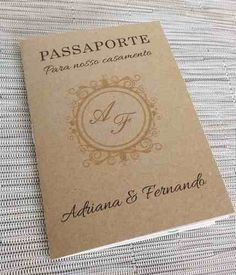 convite casamento criativo passaporte viagem (10 unidades)