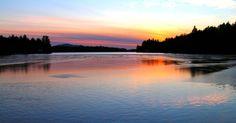 12.22.2015.First day of winter,  Lower Saranac Lake, Ampersand Bay, sunset, 417pm, dec 21, 2006