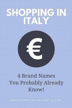 Supermarkets in other countries can be intimidating with all their foreign product labels staring at you but, rest assured, in many countries, like Italy, you can find your trusted and favorite products in most stores.