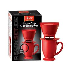 Single Cup Coffee Brewer w/Ceramic Mug