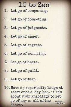 10 to Zen. Reminders during Christmas Holiday.