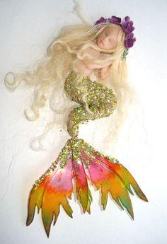 Polymer Clay Art Doll Sculpt - Kelsey | OOAK Fairy Sleeping Baby Mermaid Art Doll Polymer Clay Sculpt | eBay