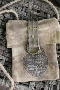 cinnamon creek dry goods | Little Lock Pouch...6x9~$25.00
