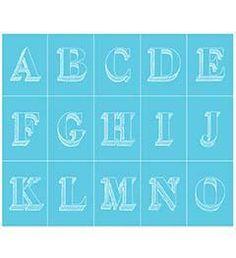 Martha Stewart Crafts ® Adhesive Silkscreens - Bodoni Alphabet #marthastewart #marthastewartcrafts #plaidcrafts #diy #crafts