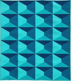 "Dimension, 52 x 60"", designer quilt pattern by Nydia Kehnle | Robert Kaufman Fabrics"