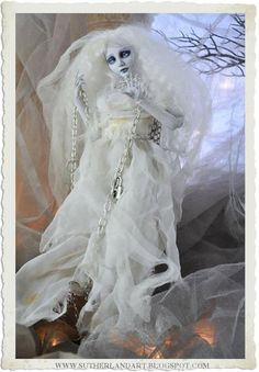 One of Kind Ghostly Outfit with Chains for by ShariDeppDesigns