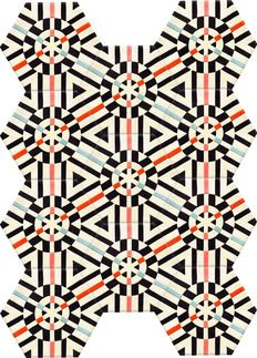 Kinder GROUND Rectangle Deconstructed Carpet - Kaleidoscope (11 piece Hexagon)   2Modern Furniture & Lighting