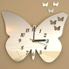 vlinder spiegel klok