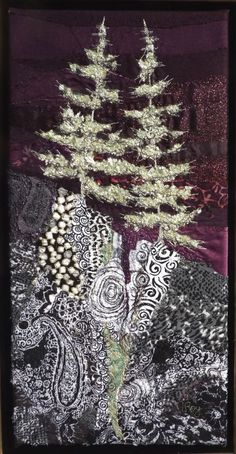 """Silver Fir"" by textile artist Lorraine Roy. So wintery."