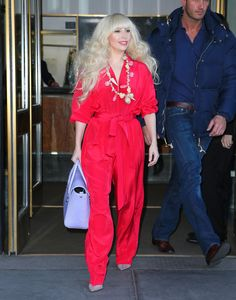 How cute is Gaga here? I love this jumpsuit.