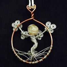 Tree of Life Necklace / Suncatcher / Silver by TradeMarkVintage, $30.00