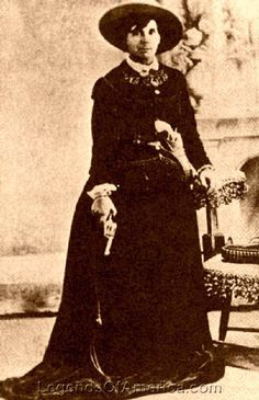 """Belle Starr, aka: the """"Outlaw Queen"""" (1848-1889) - Hooking up with the likes the Younger brothers and Jesse James at a young age, Starr became an outlaw herself and was the first woman to be tried for a serious crime by Judge Isaac Parker."""