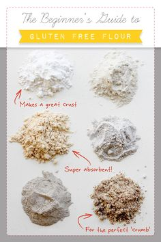 Need advice on how to work around the kitchen while going gluten free? Read up on useful advice from the Beginner's Guide to Gluten-Free Flour! Cookies Gluten Free, Gluten Free Flour, Gluten Free Diet, Gluten Free Cooking, Gluten Free Desserts, Dairy Free Recipes, Flour Recipes, Lactose Free, Easy Recipes