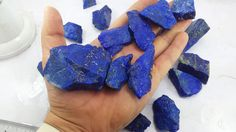 Natural Blue Shinning Grad AAA lot of Lapis Lazuli from Afghanistan.Very Very RARE (NO Calcite). THIS PARCEL WILL GIVE YOU 100 GRAMS SMALL AND LARGE GOOD QUALITY GRAD AAA LAPIS LAZULI FROM ABOVE LOT.   eBay!