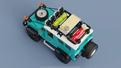 Defender 90, Land Rover Defender, Lego Cars Instructions, Lego Camper, Lego Machines, Lego Kits, Lego Truck, Amazing Lego Creations, Lego Jurassic World