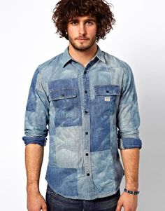 Enlarge Denim & Supply Ralph Lauren Patchwork Shirt