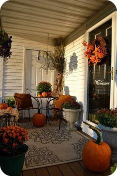 Fall Porch DecoratingIdeas - Style Estate -