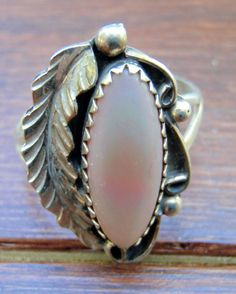 Authentic Vintage Native American Sterling Silver Mother of Pearl Ring - Sterling Silver Ring - Native American Ring - Mother of Pearl Ring - pinned by pin4etsy.com