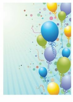 Balloons design background Send Birthday Card, Birthday Clipart, Happy Birthday, Backgrounds Free, Colorful Backgrounds, Happy Cake Day, Balloon Box, Party Streamers, Photo Frame Design