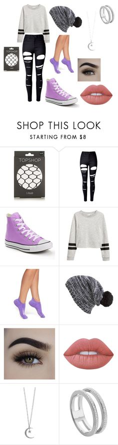 """""""school outfit"""" by eenglshrose ❤ liked on Polyvore featuring Topshop, WithChic, Converse, NIKE, Capelli New York, Lime Crime, Mudd and Monica Vinader"""