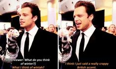 If I meet you Seb, I'll help you with that crappy British accent