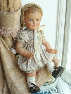 c.1920 Petitcollin celluloid Antique Dolls, Vintage Dolls, Vintage Antiques, Doll Clothes, Flower Girl Dresses, Dolls Dolls, Baby, Beautiful, Fashion