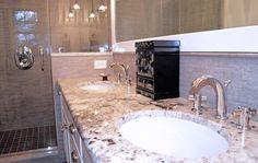 Bath bianco romano granite Design Ideas, Pictures, Remodel and Decor