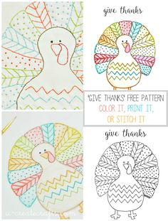Fall Turkey Printable! Love the idea of the kids (and adults) coloring while waiting for Thanksgiving dinner!