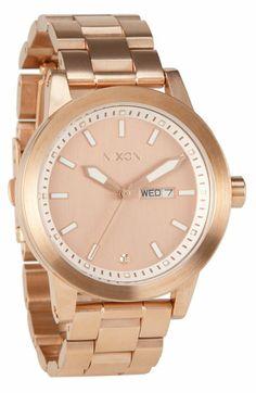 Nixon 'The Spur' Bracelet Watch -- Rose Gold | Nordstrom ...anyone else loving rose gold?
