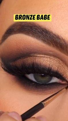 Face Makeup Tips, Eye Makeup Steps, Makeup Eye Looks, Beauty Makeup Tips, Makeup Ideas, Brown Makeup Looks, Beautiful Eye Makeup, Beauty Shoot, Beauty Hacks